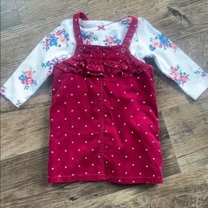 Carter's Floral Top with Polka Dot Dress